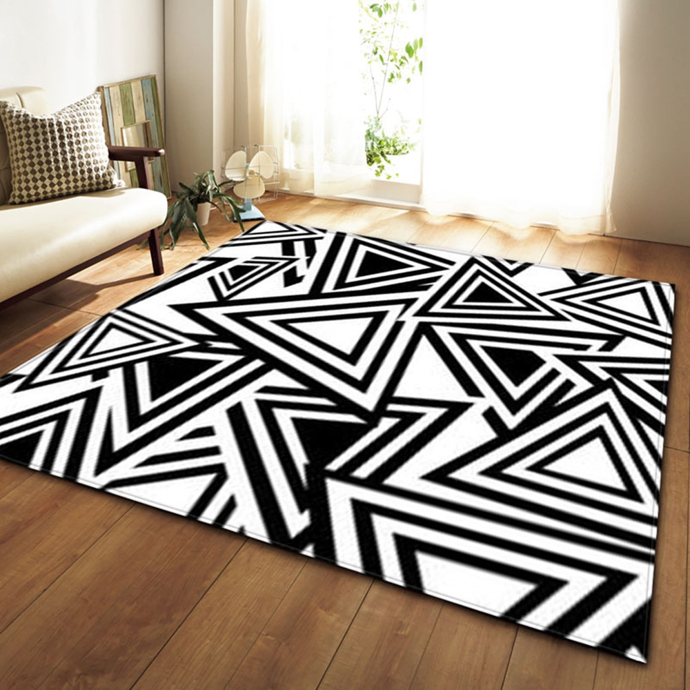Stylish Home Decor Carpet for Bedroom Floor Living Room-110x75cm Cow Print Rug Area Rug Carpet Faux Cowhide Rug