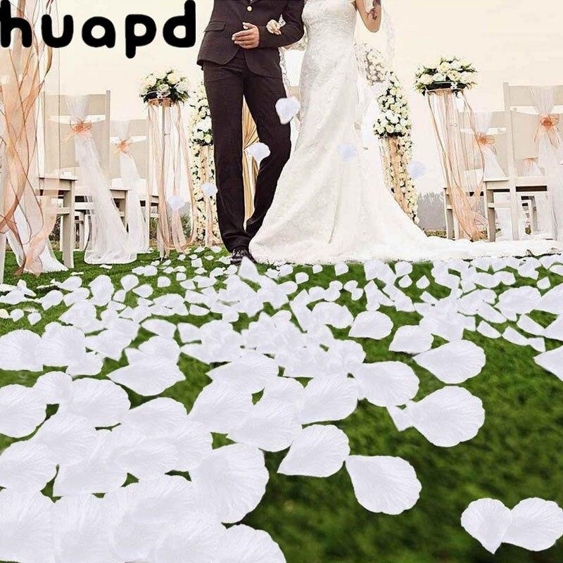 Искусственные лепестки роз используются для свадьбы, романтические шелковые цветы розы, свадебное украшение, кровать, Товары для ванной ко...