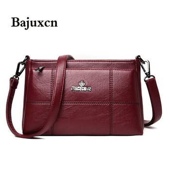 PU Leather Shoulder Bags for Women 2020 V-Embroidery Thread Luxury Handbags Designer Simple Female Crossbody Bag Sac - discount item  54% OFF Women's Handbags