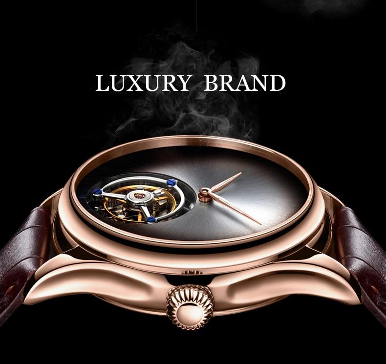 GUANQIN 2019 Tourbillon Men watches top brand luxury 100% real Tourbillon clock men Sapphire mechanical watch Relogio Masculino 13