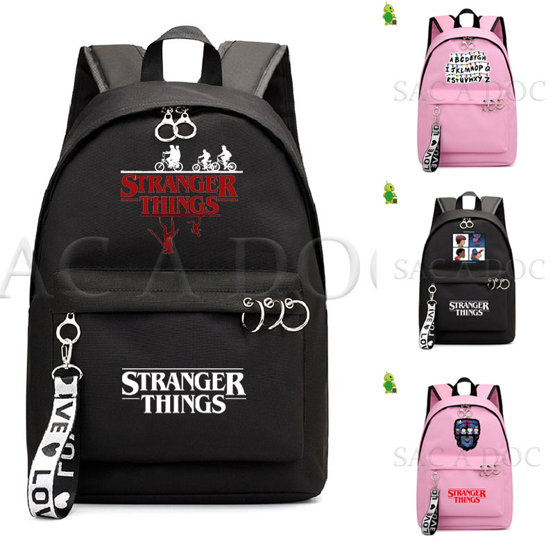 Stranger Things Backpack New Fashion School Bags For Girls College Students Laptop Backpack Leisure Travel Rucksack