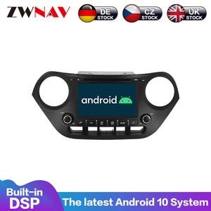 The newest Android 10 PX6 Car DVD Player for Hyundai I10 I-10 2013 -2018 GPS Navigation Multimedia Satnav Stereo Radio Tape