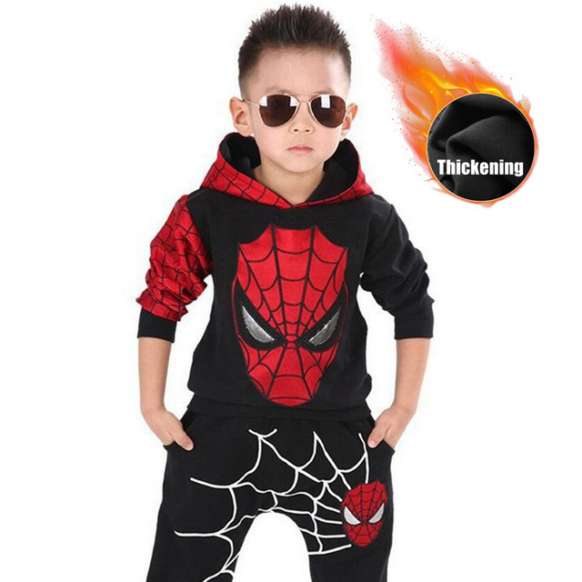 Children Batman Spiderman Costume Clothing Set 2