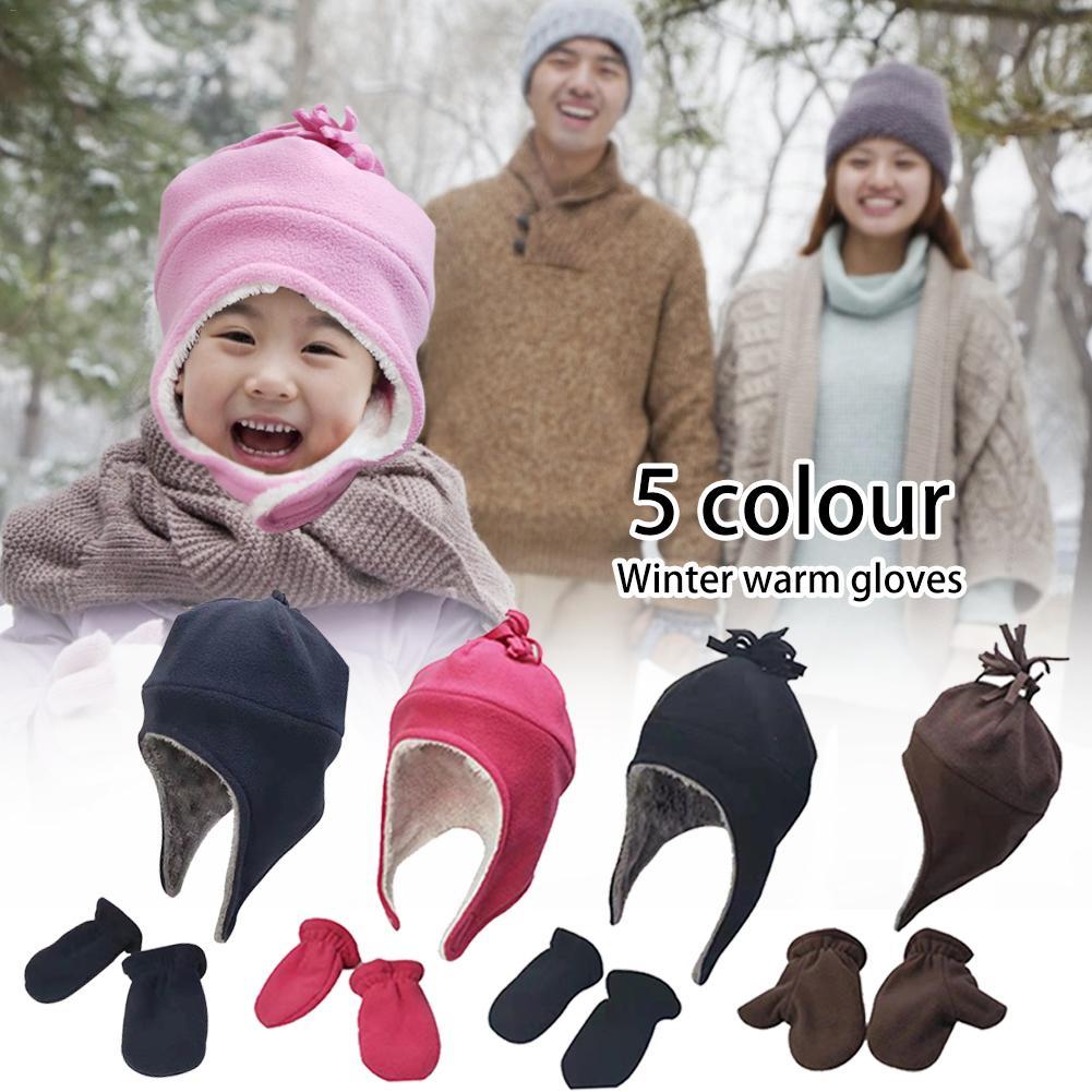 Gorra de invierno para Bebe Niños Niñas Pequeños Gorros de Moda Piloto Sombreros
