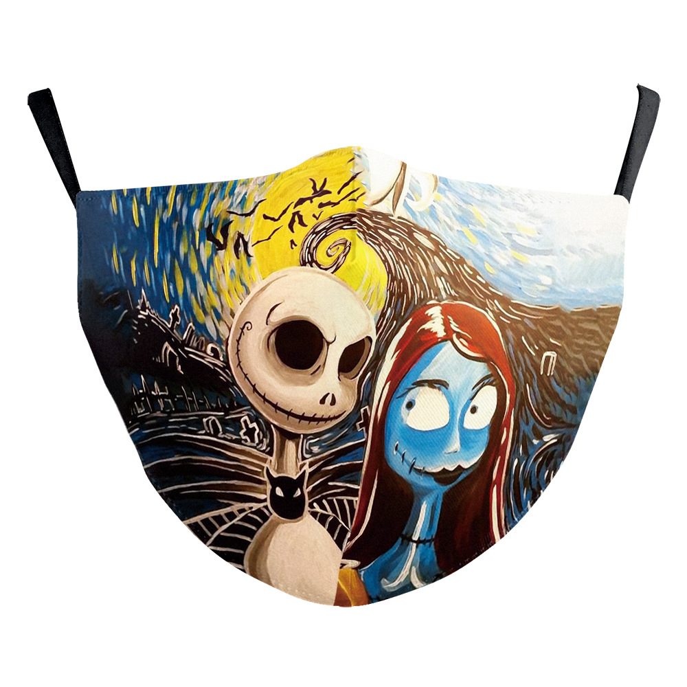 The Nightmare Before Christmas Jack Skellington face Mask Cosplay Adult Masks Props 2
