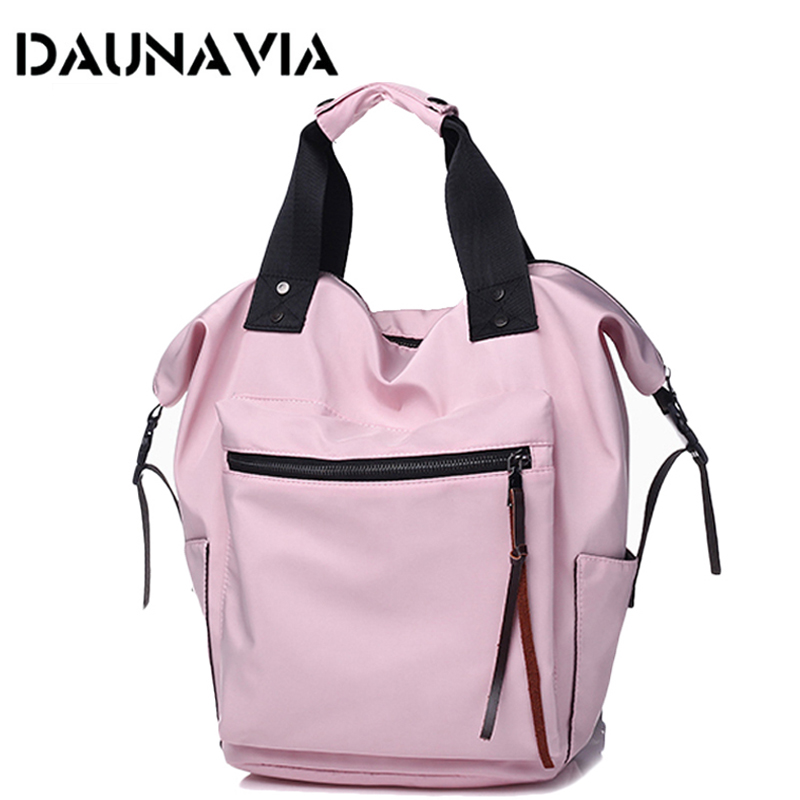 Fashion Waterproof Backpack For Women Large Capacity Schoolbags Casual Solid Color Travel Laptop Backpack Teen Girls Bookbags