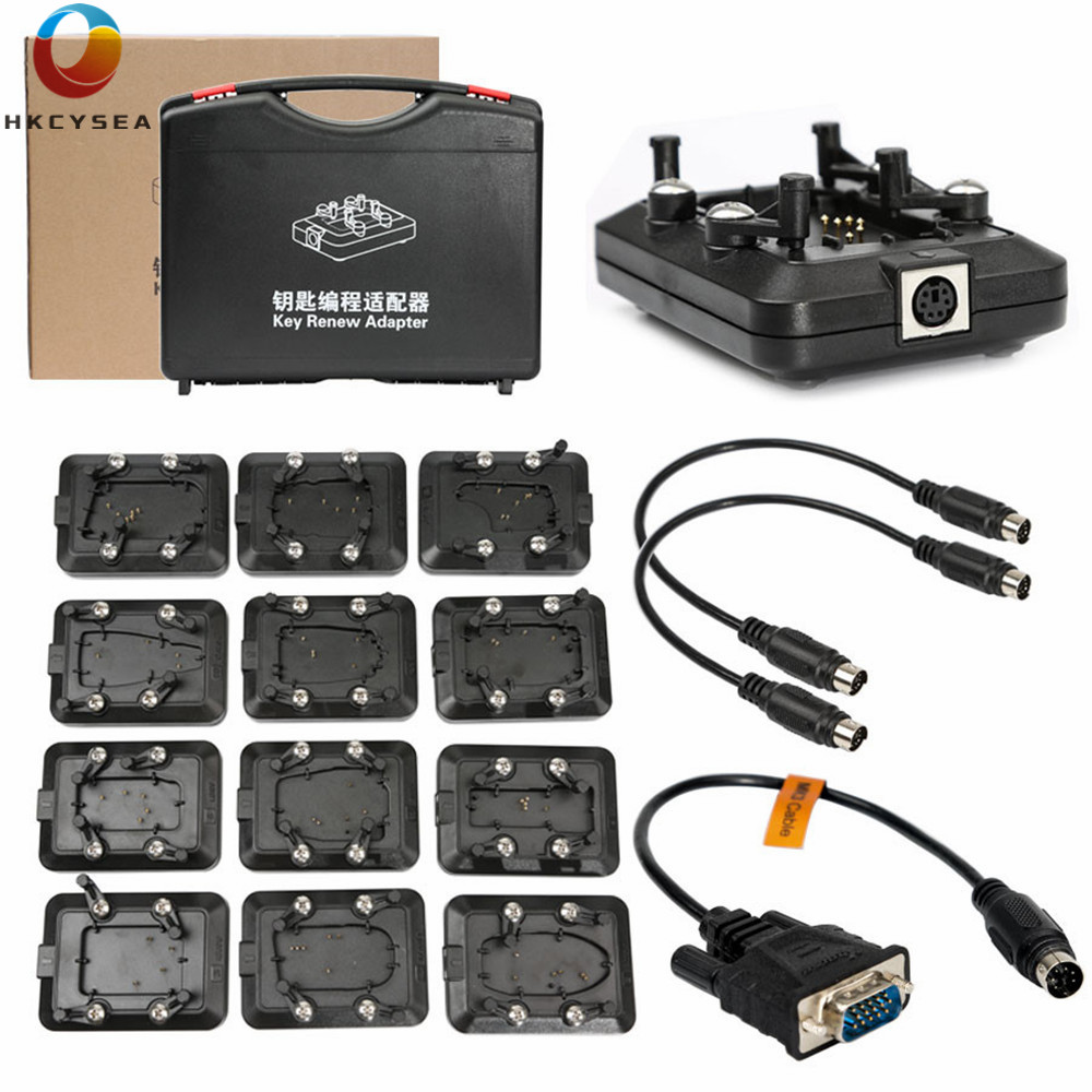 Original Xhorse VVDI Key Tool Renew Adapter Full Set 12pcs 1 12-in Auto Key Programmers from Automobiles & Motorcycles    1