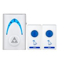 Led sem fio carrilhão campainha da porta & controle remoto bem vindo simples branco uso de segurança em casa inteligente campainha|Sensor e detector| |  -