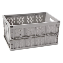 Collapsible Storage Bin,Milk Crate and Reusable Folding Moving Box, 17.7 in X 12 in X 9 In, for Auto Organizing, Moving, Long Ti