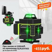 16/12 Lines 4D Laser Level green line SelfLeveling 360 Horizontal And Vertical Super Powerful Laser level green Beam laser level