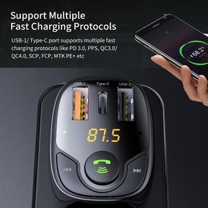 Image 4 - ROCK Drei USB Auto Ladegerät B301 Bluetooth 5,0 FM Transmitter Digital 3,4 EINE Intelligente Verteilung Aktuelle Schnelle Schnell Lade