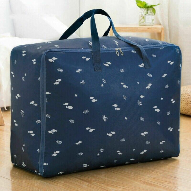 Portable Oxford Storage Bag Waterproof Oxford Folding Clothing Organizer With Zipper Travel Bag