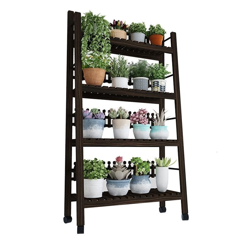 Porta Piante Estanteria Plantenrekken Estante Para Plantas Wooden Shelves For Balcony Rack Outdoor Flower Stand Plant Shelf