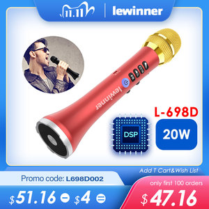 Image 1 - Lewinner L 698D professional 20W portable wireless Carpool Bluetooth karaoke microphone speaker with big power for Sing/Meeting