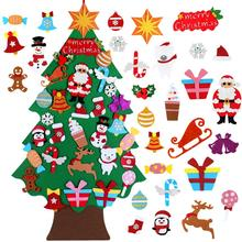 FENGRISE войлочная Рождественская елка Санта Клаус рождественские украшения для дома детские игрушки 2020 Рождественская елка украшения для рож...