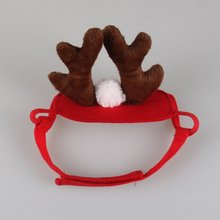 1pc Cute Pet Supplies Antlers Deer Hat for Teddy Puppy Dog Christmas Costume Cap Santa Decals Party Accessories Product YY603900 christmas santa deer pattern decorative stair decals 6pcs