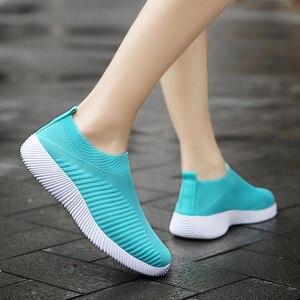 Image 3 - Sıcak satış koşu ayakkabıları kadın bahar bayanlar ayakkabı örgü spor ayakkabılar hafif spor ayakkabı yaz yeni kapalı daireler ayakkabı büyük boy
