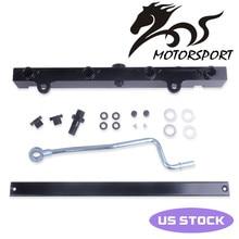 Комплект топливной рейки большого объема для Honda 02-06 для Acura для RSX для Civic K20 K20A2 K20Z1 K20A3 Черный алюминиевый сплав