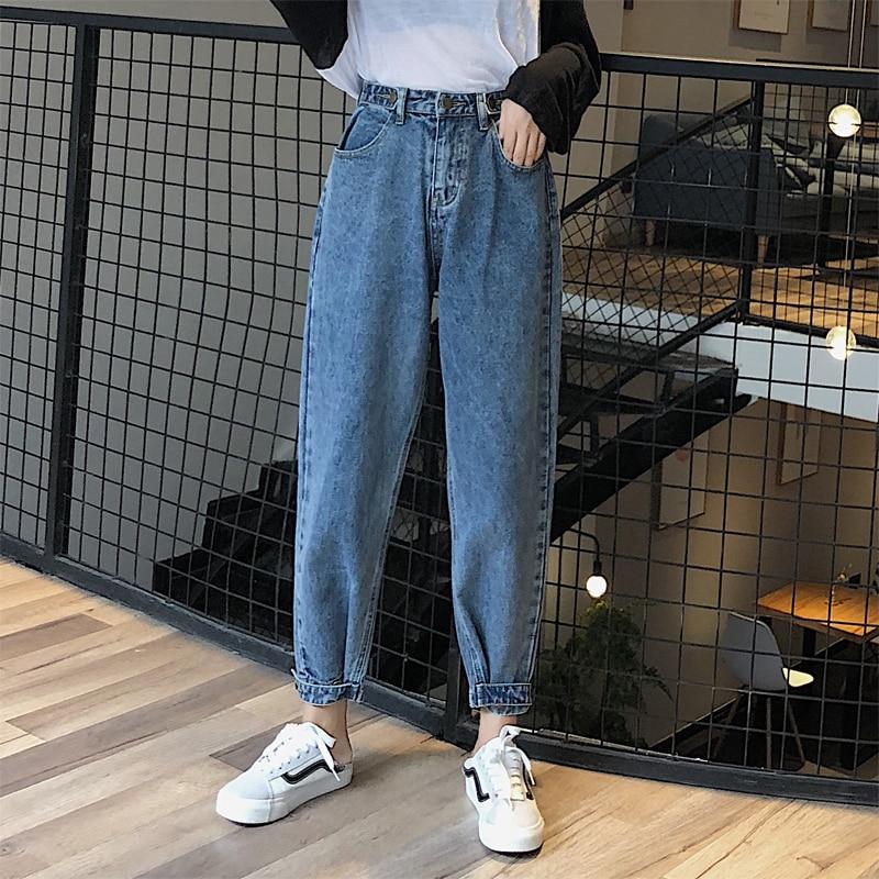 Woman Jeans High Waist Clothes Wide Leg Denim Clothing Streetwear Vintage Quality 2020 Fashion Harajuku Loose Straight Pants