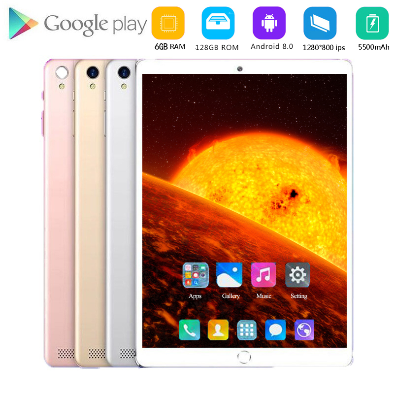 YAHU 4G LTE 10 Inch Tablet PC Android 8.0 Octa Core Super Tablets Ram 6GB Rom 128GB WiFi GPS 10.1 Tablet IPS CP9 Dual SIM GPS