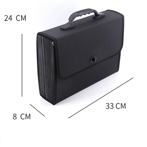 Image 2 - 26 Layers Pockets Expanding File Folder Organizer Briefcase Waterproof Business Filing Box With Handle Office Supply