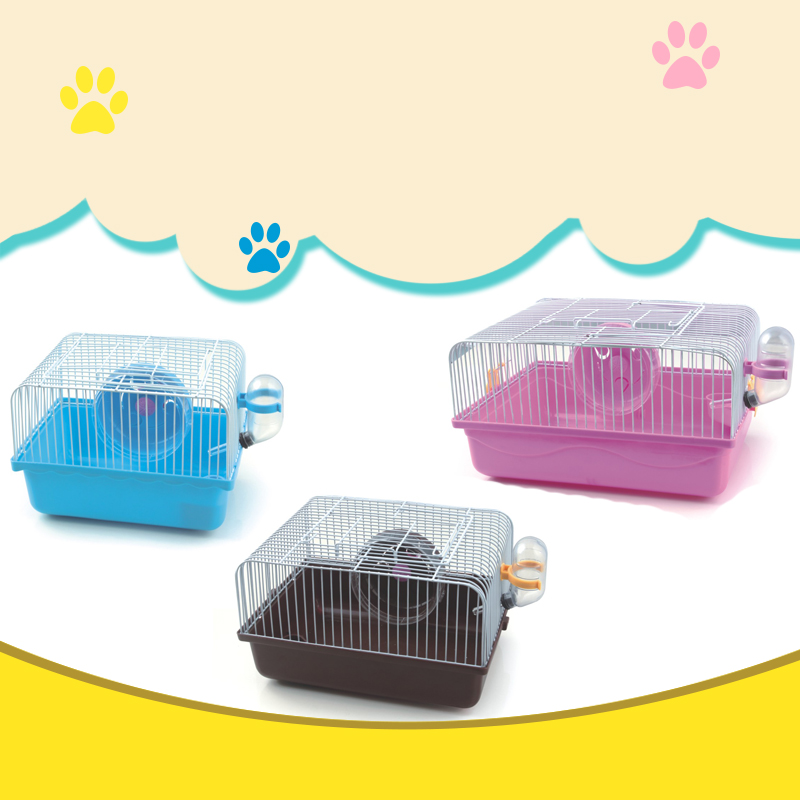 Simple Assemble Hamster Cage Travel Carry Rat Cage House Small Pets Supplies Hamster Toy Accessories