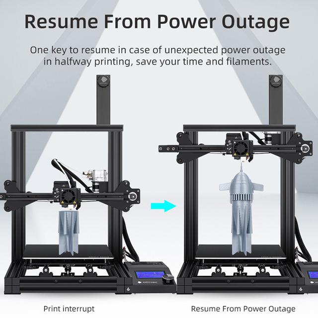Desktop 3D Printer 3D Printing Extruder Metal Frame High Precision Printer