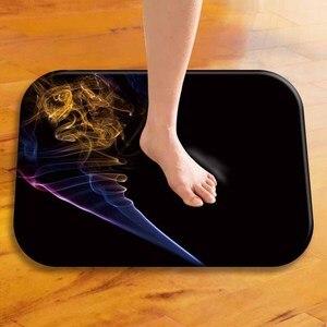 Image 2 - Hermosa alfombra suave de franela Rectangular ahumada 40*60, alfombra lavable para suelo, alfombra decorativa para hogar, dormitorio, Hotel, alfombrilla para suelo de baño