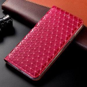 Image 2 - جلد طبيعي شبكة الحال بالنسبة OnePlus واحد اثنين 1 2 3X5 5T 6 6T 7 7T برو محفظة قلابة حامل قذائف أكياس كابا غطاء