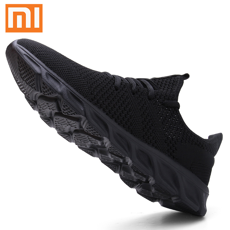 Xiaomi Men's Casual Shoes Flyknit Men Sport Shoes Breathable Sapato Masculino Lightable Man Sneakers Comfortable Shoes for Men