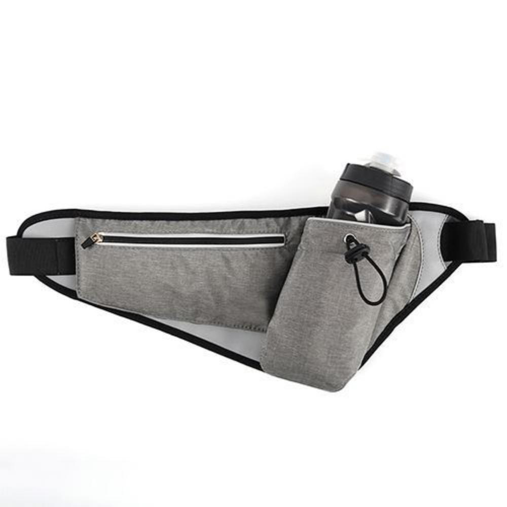 Outdoor Sports Double Layer Marathon Bottle Waist Pack Waterproof Mobile Phone Chest Bag