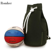Romher New Large Capacity Sport Gym Bags Women Fitness Bag Canvas Drawstring Gym Backpack Canvas Bucket Bag Backpack Sport canvas drawstring colour block backpack