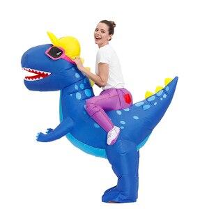 Image 3 - חם אנימה דינוזאור מתנפח תלבושות המפלגה קמע Alien חליפת תלבושות disfraz קוספליי ליל כל הקדושים תחפושות למבוגרים ילדים שמלה