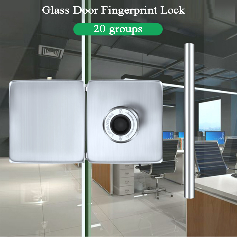 Biometric Fingerprint Door Lock Glass Door Keyless Electric Lock USB Battery Shop/Office/Store Gate Lock