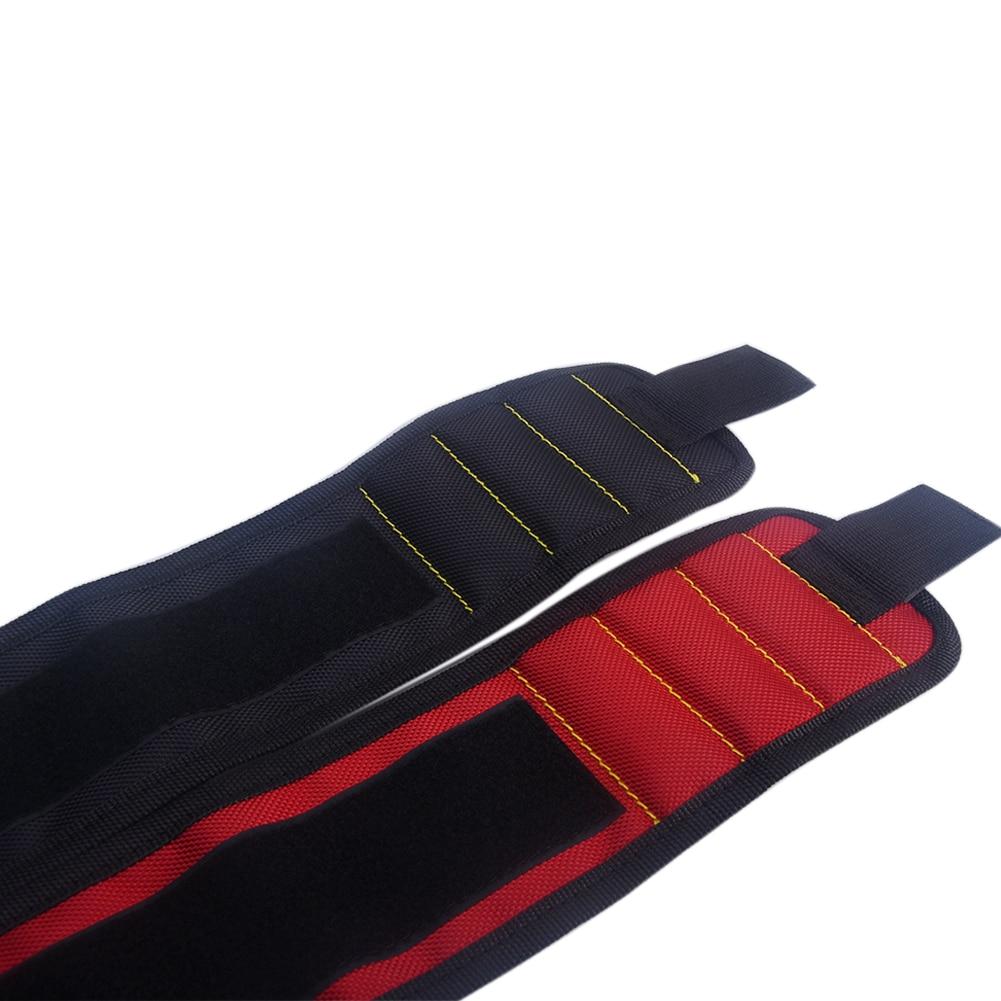 3 Grid Magnetic 380mm Oxford Cloth Wrist Bag Toolkit Belt Scissor Screw Holder Wrist Spire Lamella Tool Storage Orgnization Bags