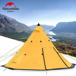 Image 3 - Naturehike ピラミッドテント屋外のキャンプのテントピラミッドキャンプテント大容量防風防雨防水家族のテント