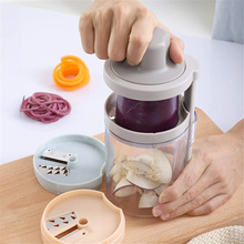 New Design Plastic 3 In1 Hand-Held Spiralizer With Saving Room