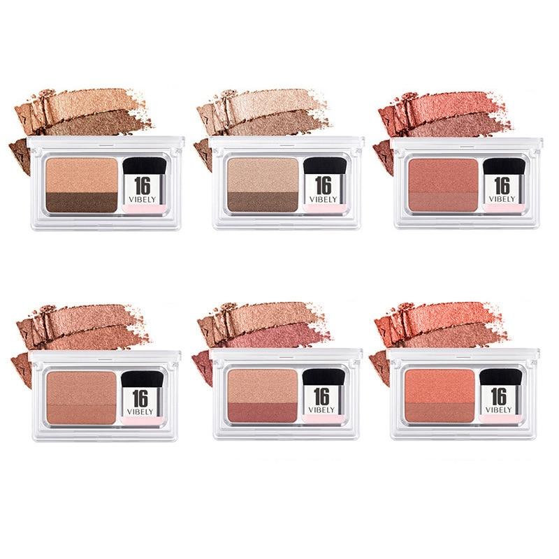 Lazy Double Color Eye Shadow Diamond Shimmer Eyeshadow Makeup Waterproof Mineral Powder Double-layer Glitter Eye Shadow