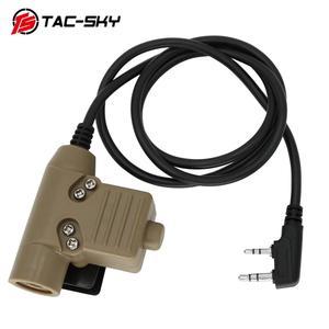 Image 5 - TAC  SKY PTT U94 new plug tactical PTT military headset adapter walkie talkie PTT hunting sport shooting tactical headset u94ptt