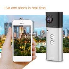 VR камера 360 градусов камера панорамный вид Wi-Fi двойной 210 линзы сферическое видео изображение в реальном времени бесшовный рекордер 30FPS 8MP