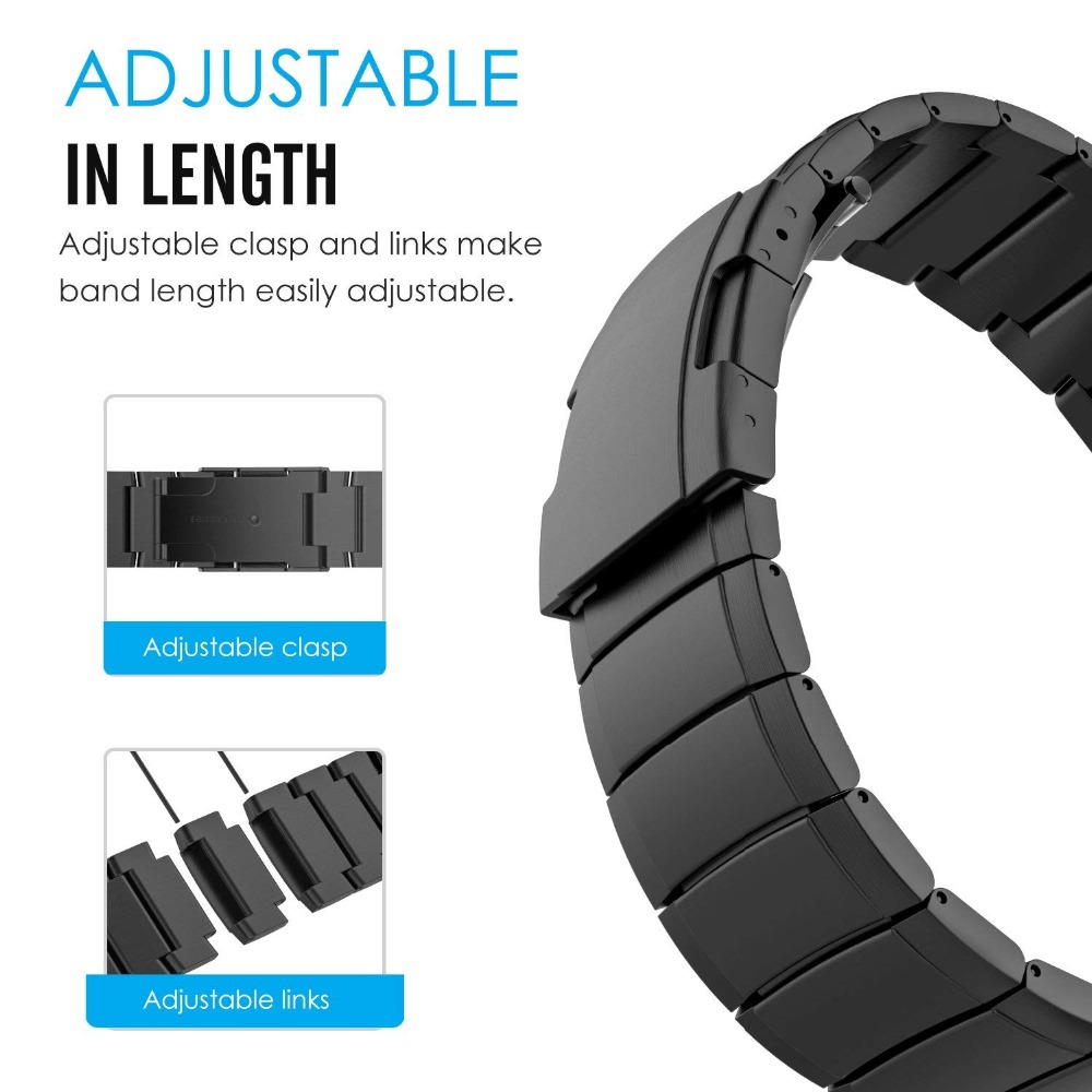 ONEON 20mm/22mm Watch Strap For Samsung Galaxy 46mm/42mm Stainless Steel Band Quick Release Pins for Gear Sport S2 S3 Frontier