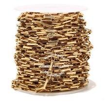 1 Meter Edelstahl 5mm Breite Gold Box Ketten DIY Erkenntnisse Lange Oval Link Kette Für Schmuck Machen