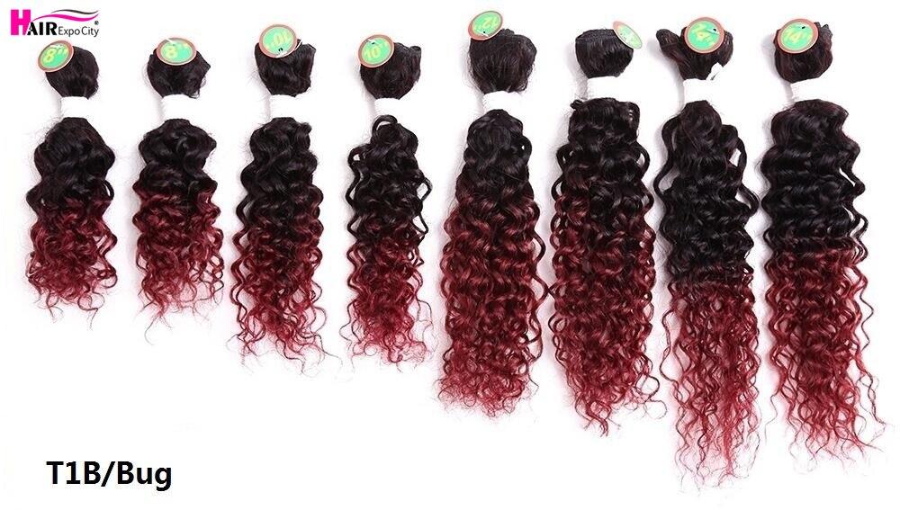 cabelo sintético extensões de cabelo para as