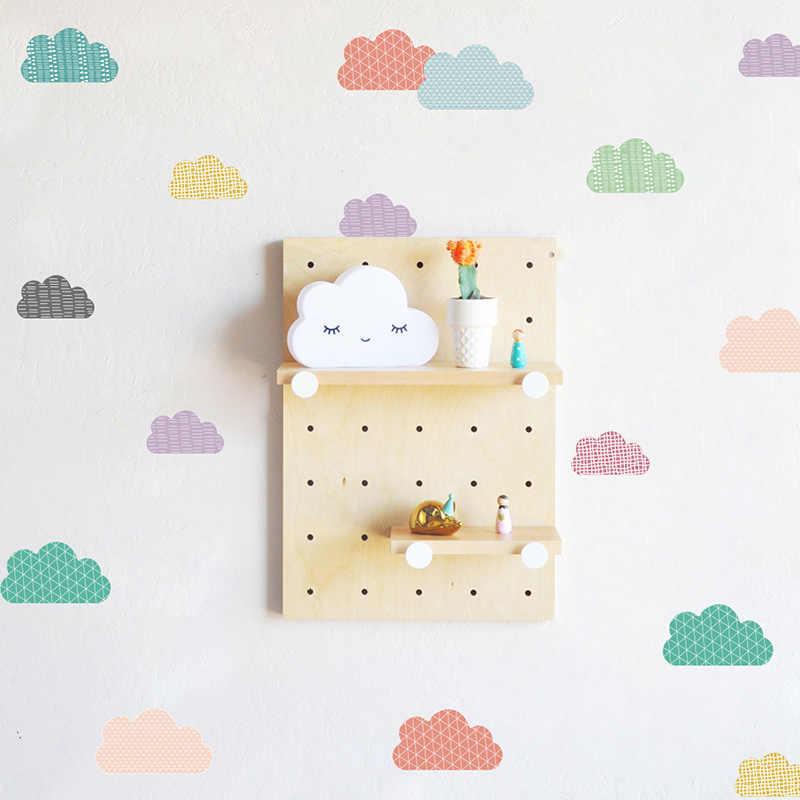 カラフルな雲パターン壁のステッカー子供の部屋の装飾壁ビニール防水取り外し可能な現代家の装飾