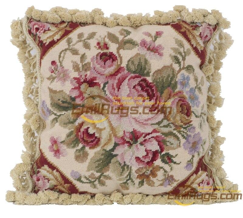 Baquout almofada do assento Sofá aubusson Decorativo Lance Interior Decoração Quadrados de lã Aubussion Tampa Quadrada - 5