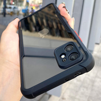 Funda de teléfono a prueba de golpes para iPhone, carcasa de silicona transparente de lujo para iPhone 11 12 Pro X XS Max Mini XR 8 7 Plus SE2