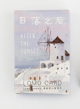 52mm*80mm After Sunset Paper Greeting Card Lomo Card(1pack=28pieces)