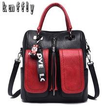 2020 Women Backpacks Soft Leather Lady Travel Backpack School Bags for Teenage Girls Multifunction Women Shoulder Bags Mochilas