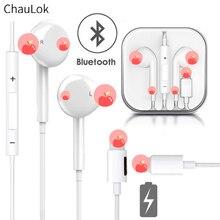 באוזן Wired Bluetooth אוזניות עם מיקרופון תשלום ספורט אוזניות עבור iPhone 8 7 6 בתוספת XS Max XR אוזניות אוזניות עבור iPad