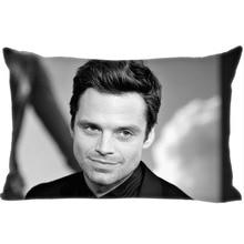 Custom Sebastian Stan Rectangle Pillowcase zipper dakimakura Classic Pillow Case size 35*45cm DIY Gift Drop Shipping